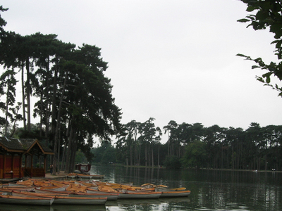 The Upper Lake With Rowboats