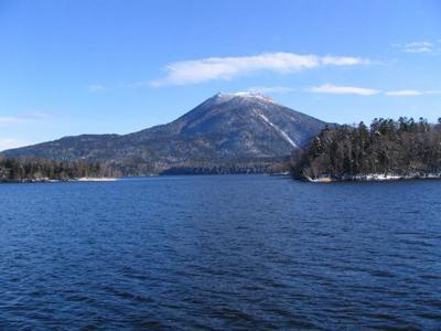 Lake Akan And Mount Meakan