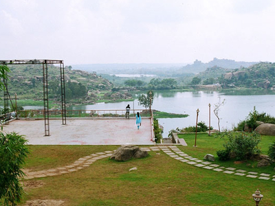 Lake And Hillside View