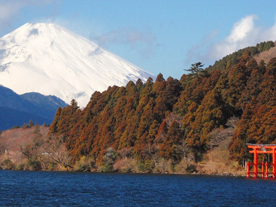 Lake Ashi And  Mt Fuji  Hakone