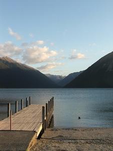 Lake Rotoiti Jetty - Nelson Lakes NP - South Island NZ
