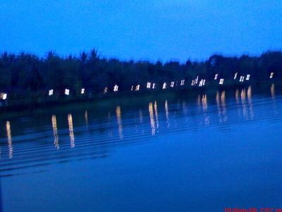 Lake View At Night