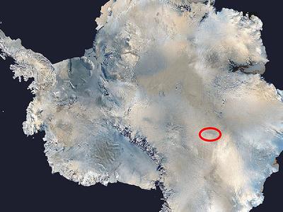 Lake Vostok Location
