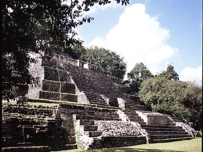 Lamanai Jaguar Temple - Orange Walk District - Belize