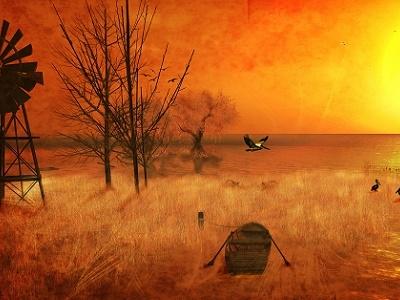 Landscape At Neva River