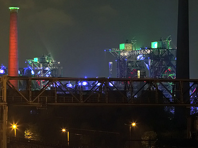 Landschaftspark  Duisburg   Nord Bei  Nacht     Gesamt