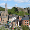 La Roche The Town Centre Below Its Medieval Castle