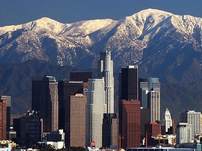 L A Skyline Mountains