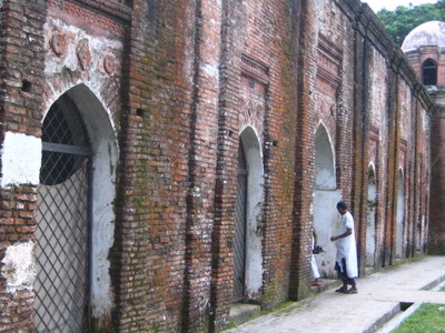 Left View Of Facade Of Shat Gombuj Mosque