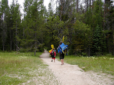 Leigh Lake Trailhead - Grand Tetons - Wyoming - USA