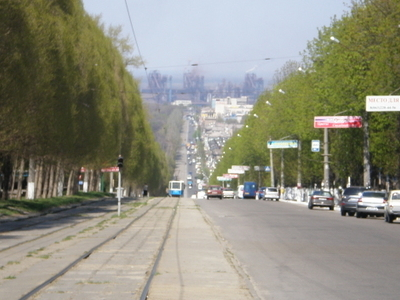 Lenin Avenue In Dniprodzerzhynsk