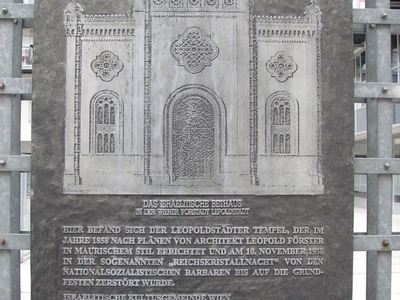 Memorial Plaque At The Site Of Synagogue