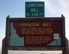 Lewiston Hill Info Plaque ID