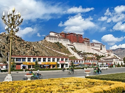 Lhasa Below Potala Palace