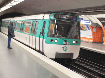MF 77 Rolling Stock On Line 8 At Liberté