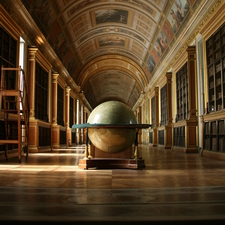 Famous Library At Fontainebleau