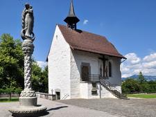 Liebfrauenkapelle Between Schloss And Stadtpfarrkirche