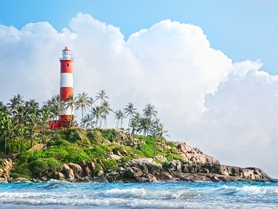 Lighthouse At Kovalam Lighthouse Beach
