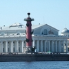 Lighthouse On Vasilievsky Island. St.Petersburg