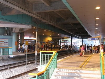 Light Rail Siu Hong Stop Platform