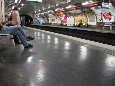 Line 12 Platforms At Marcadet - Poissonniers