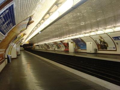 Line 7 Platforms At Pierre Et Marie Curie