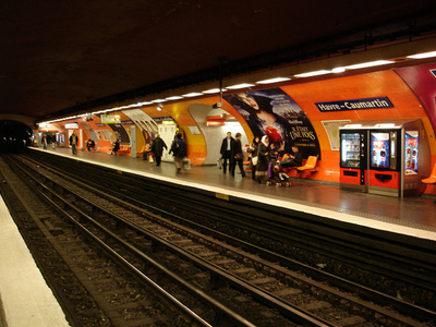 Line 9 Platforms At Havre - Caumartin