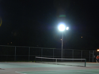 Lit Tennis Court In Owen Park A B  Crppd  By Vern Barber