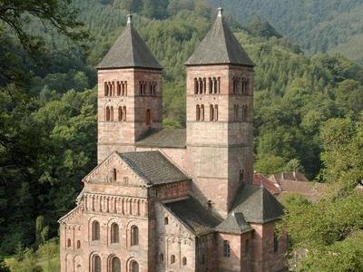 Location Of Murbach Abbey