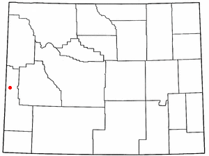 Location Of Afton Wyoming