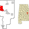 Location In Tallapoosa County And The State Of Alabama