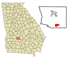 Location In Crisp County And The State Of Georgia