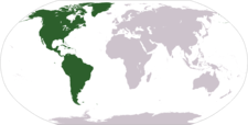 Location Of The Americas