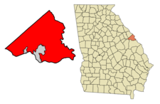 Location Of Consolidated Augustarichmond County Red Within Rich