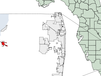 Location Of Belle Glade Florida