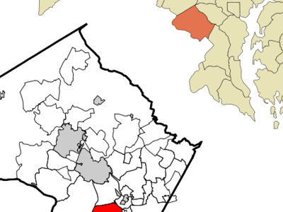 Location Of Bethesda In Montgomery County Maryland