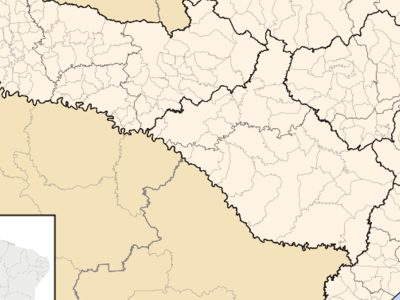 Location In The State Of Santa Catarina And Brazil