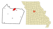 Location Of Boonville Missouri