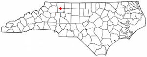 Location Of Boonville North Carolina