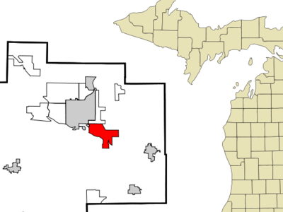 Location Of Bridgeport Cdp Within Saginaw County Michigan