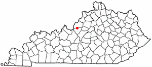 Location Of Brooks Kentucky