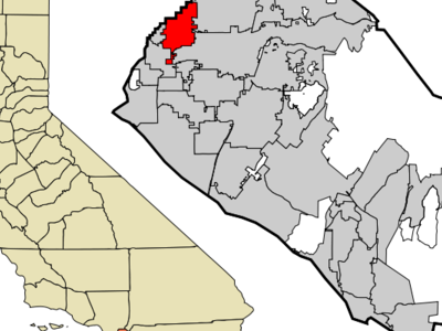 Location Of Buena Park Within Orange County California.
