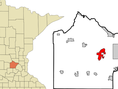 Location In Wright County And The State Of Minnesota
