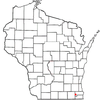Location Of Burlington Within Wisconsin