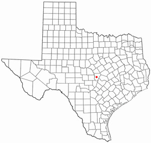 Location Of Burnet Within Burnet County Texas.
