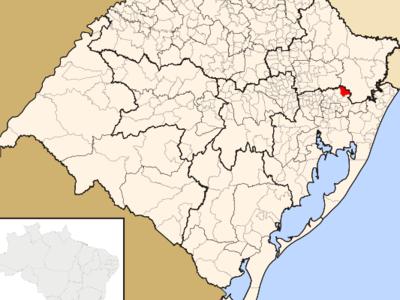 Location In The State Of Rio Grande Do Sul And Brazil