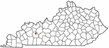 Location Of Central City Within Kentucky.