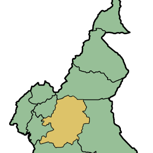 Location Of Centre Province Within Cameroon