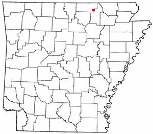 Location Of Cherokee Village Arkansas