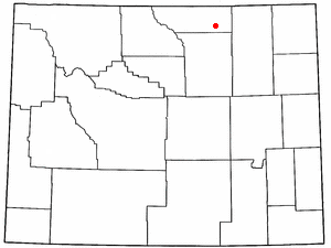 Location Of Clearmont Wyoming